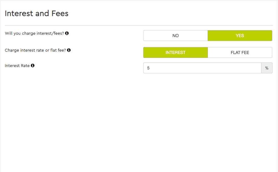 Charge Interest or a Flat Fee